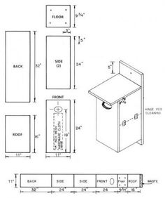 Free Bluebird House Plans How to Build a Bird House Projects