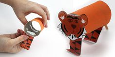 Cardboard Tube Tiger Chinese New Year Craft Instructions - twinkl