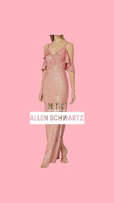 ABS Allen Schwartz Women's Sequins Gown W/Cascading Shoulder Cut-Outs Aesthetic Look, Aesthetic Clothes, Dress Outfits, Fashion Outfits, Dresses, Sequin Gown, Shoulder Cut, Hot Dress, Party Dress