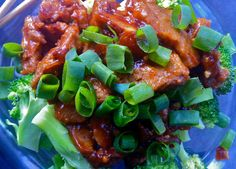 A Girl and her Food Processor: General Tso's Seitan