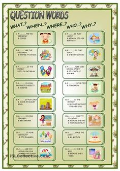 QUESTIONS WORDS worksheet - Free ESL printable worksheets made by teachers