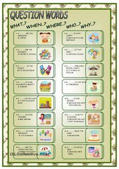 QUESTIONS WORDS worksheet - Free ESL printable worksheets made by teachers