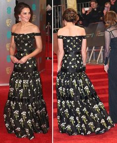 The Duchess cut an impeccably stylish figure as she arrived to a sea of camera flashes as the Cambridges walked the red carpet at the Royal Albert Hall.