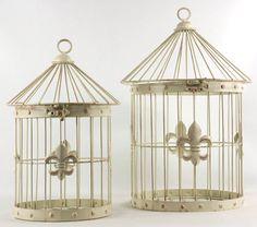 Fleur de lis birdcages, perfect Louisville wedding centerpieces?