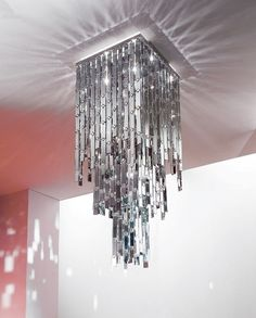 Glitter Chandelier?  Yes, please!