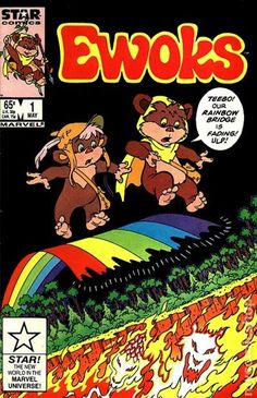 Ewoks Comic Book 1985 Marvel NM/White Pages Star Wars, Return of the Jedi Star Wars Comics, Star Wars Toys, Marvel Comic Books, Marvel Comics, Comic Book Collection, Ewok, White Pages, Rainbow Bridge, Comic Book Covers
