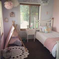 Girly room pink pom poms teepee kids rooms ideas детская комната девочки, д