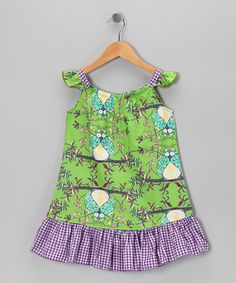 http://www.zulily.com/invite/vhanson979Take a look at this Green Owls Sundress - Toddler & Girls by Beary Basics on #zulily today!