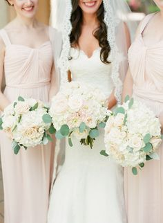 Amsale Bridesmaids Gowns in Blush Pink I Photography by Justin DeMutiis Photography - via @justin-demutiis-photography