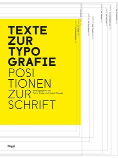 Texte zur Typographie: Positionen zur Schrift (Texts for Typography: The Role of Font). Donated by  RAM Publications + Distributions.