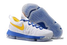"ef80750f11f ""Golden State Warriors"" Nike KD 9 White Yellow Blue Discount"