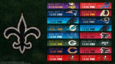 New Orleans Saints Schedule 2020 Printable.44 Best Football Images In 2019 Saints Football New