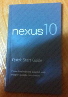 Google Nexus 10 - ecco in anteprima il manuale utente