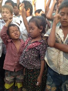 """""""Some kid praying the prayer of salvation at our children's crusade"""" - Taken by Cory Okelley - Cambodia"""