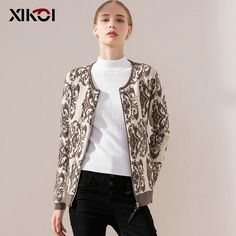 Check lastest price 2017 New Autumn Casual Women Sweaters Cardigan Coats Print O-Neck Ladies Sweater Full Sleeve Fashion Women's Cardigans Clothes just only $11.51 with free shipping worldwide  #womansweaters Plese click on picture to see our special price for you