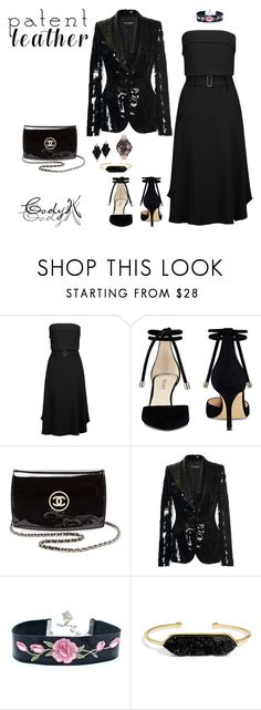 """""""Patent Leather Contest"""" by cody-k ❤ liked on Polyvore featuring A.L.C., Nine West, Chanel, Dolce&Gabbana, Roberto Demeglio, BaubleBar and Olivia Burton"""