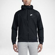 Nike Windrunner Mens Running Jacket S M L XL Black White 727324 010 #Nike…