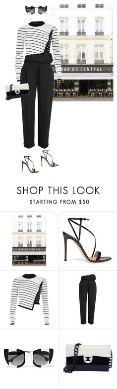 """Oh So Stylish."" by maryamwrites ❤ liked on Polyvore featuring Gianvito Rossi, River Island, Carven, Alice + Olivia and Chanel"