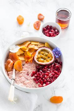 tropical bircher muesli bowl with passion fruit and mango -42 | Recipes From A Pantry