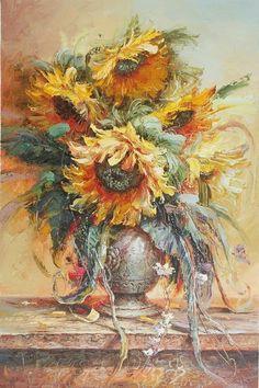 Alexei Khlebnikov / Алексей Хлебников ~ Still Life of Flowers painter
