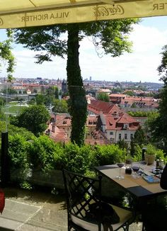 lunch w a view in Prague - Villa Richter