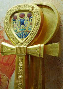 Ankh - encyclopedia article about Ankh. | An ankh-shaped mirror case