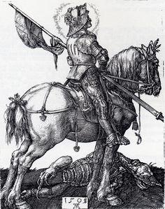 Albrecht Durer (1471-1528) St George on horseback