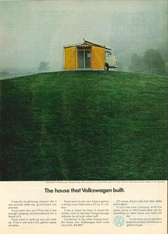 If you can demonstrate your product benefit in a press ad, don't hesitate. Volkswagen Ad - The House