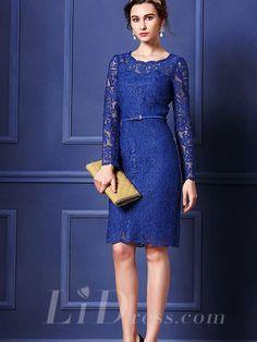 Elegant Long Sleeves Short Evening Dress