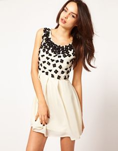 Lipsy Dress With Embellishment