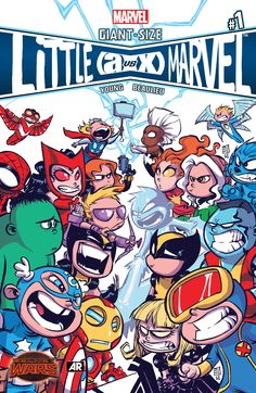 #Marvel #Fan #Art. (Giant-Size Little Marvel: AVX Vol.1 Variant Cover) By: Skottie Young. ÅWESOMENESS!!!™ ÅÅÅ+