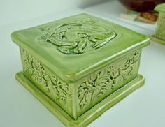 Items similar to Unique Handmade Chinese Dragon bas relief ceramic trinket box in earthenware clay with a apple jade glaze. on Etsy Symbols Of Strength, Year Of The Dragon, Earthenware Clay, Chinese Dragon, Ancient China, Trinket Boxes, Hand Carved, Decorative Boxes, Carving