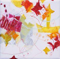 Hoshi meguri (2012) Oil on canvas, sliver leaf, coloured pencil