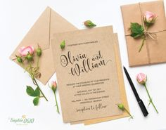 Excited to share the latest addition to my #etsy shop: Printable wedding invitation set, simple wedding invitation, calligraphy wedding invite, digital invitation file, diy wedding http://etsy.me/2nIXlN8 #weddings #invitation #printableinvitation #weddinginvitation