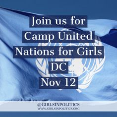 On Nov 12 we're hosting Camp United Nations for Girls DC 2016. Girls learn about international politics and the work of the UN before convening a General Assembly to pass their own UN resolution. All Girl Scouts participating will earn a Girl Scouts Global Action Award.  Buy a ticket for your daughter today at https://cunfgdc2016.eventbrite.com  #GirlsinPolitics #girlseducation #girlsleadership #letgirlslearn #girlsprogram #girlscamp #unwomen #GirlScouts
