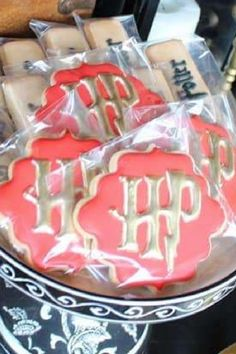 Here's a great way to treat your guests to some gorgeous cookies safely. Simply place each one carefully into one of these sealable semi-transparent bags, and either add them to a party lunch box or place inside a box or basket so your guests can take one. They are also a great solution if you plan on serving chocolate bark at your party. See more party ideas and share yours at CatchMyParty.com #catchmyparty #partyideas #socialdistancing #socialdistancingparty #socialdistancingpartyfoodideas