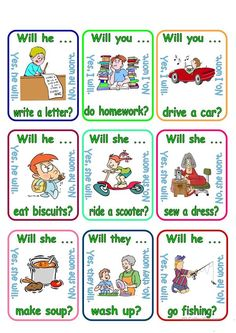 Go fish - Will you . worksheet - Free ESL printable worksheets made by teachers English Grammar Worksheets, Grammar Lessons, English Vocabulary, English Games, English Activities, English Lessons, Learn English, English Class, List Of Adjectives