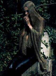 "The Look: Joan of Arc, Masha Novoselova in ""La Pucelle (The Maiden)"" photographed bySølve Sundsbø for Numéro #87 October 2007."
