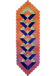 Free Double Diamond Bookmark pattern. Make it with the Double Diamond Ruler available at www.BrightQuiltingNotions.com