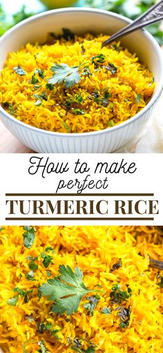 This vibrant Turmeric Rice Recipe is a fast and easy side dish perfect for brightening up your weeknight dinner. This vibrant Turmeric Rice Recipe is a fast and easy side dish perfect for brightening up your weeknight dinner. Rice Recipes For Dinner, Easy Rice Recipes, Healthy Recipes, Side Dish Recipes, Indian Food Recipes, Vegetarian Recipes, Cooking Recipes, Vegetarian Rice Dishes, White Rice Recipes
