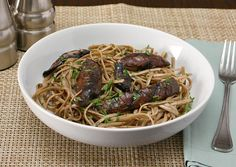 APPLE A DAY: Meatless Monday--Linguine with Grilled Portabellas and Pecorino