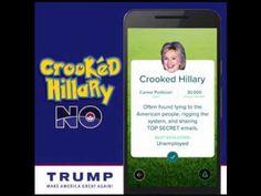 Donald Trump Pokemon Go - CROOKED HILLARY NO! - YouTube