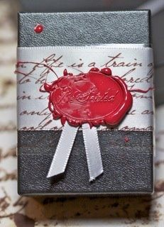Love the wax seal /old time look. i found coloured wax you put in a hot glue gun, instead of using a flame- clever.