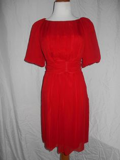 Couture Couture Los Angeles Made in Italy 100% Silk Pleated Belted Dress EUC sz8 #CoutureCouture #Cocktail