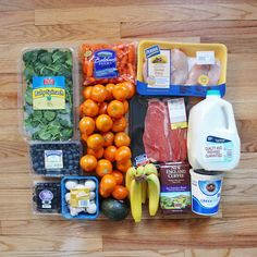 Here's what $32 worth of groceries looks like for one lady for one week. Read more for meal plan ideas!
