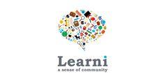 Learni Logo Design | More logos http://blog.logoswish.com/category/logo-inspiration-gallery/ #logo #design #inspiration