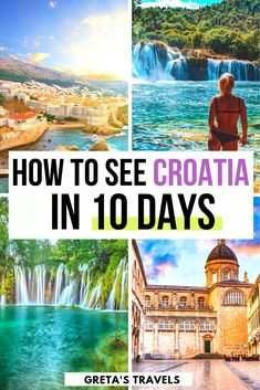 croatia travel How to see Croatia in 10 days: The best Croatia 10 day Itinerary! Planning a trip to Croatia Check out this travel guide and detailed itinerary to find out all the best things to do and see on your next trip Croatia Itinerary, Croatia Travel Guide, Travel Route, Travel Packing, Solo Travel, Budget Travel, Travel Ideas, Travel Inspiration, Shopping Travel