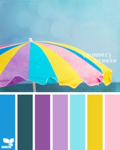 Summer Breeze. #colors #palettes #combos girls room