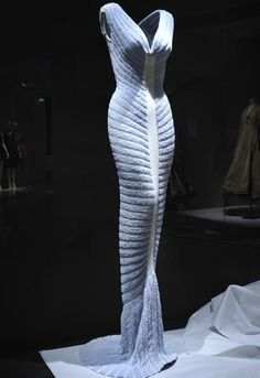 "Azzedine Alaia's 1993 ""houppette"" (powder puff) dress."
