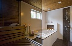Meidän pesuhuone ja sauna :) Alcove, Bathtub, Decorations, Bathroom, Standing Bath, Washroom, Bathtubs, Bath Tube, Dekoration